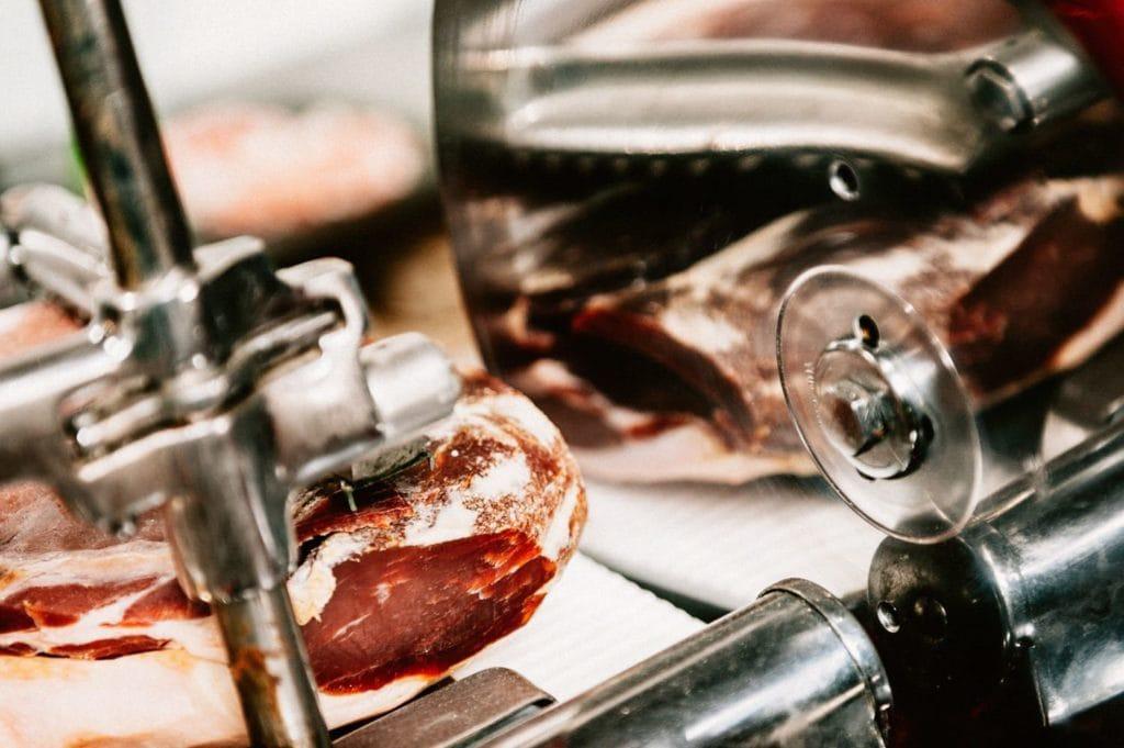 Bauer Wein Prosciutto Schneidemaschine