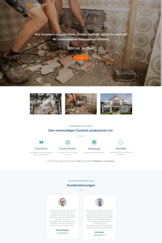 Gsaller Media Webdesign Agentur