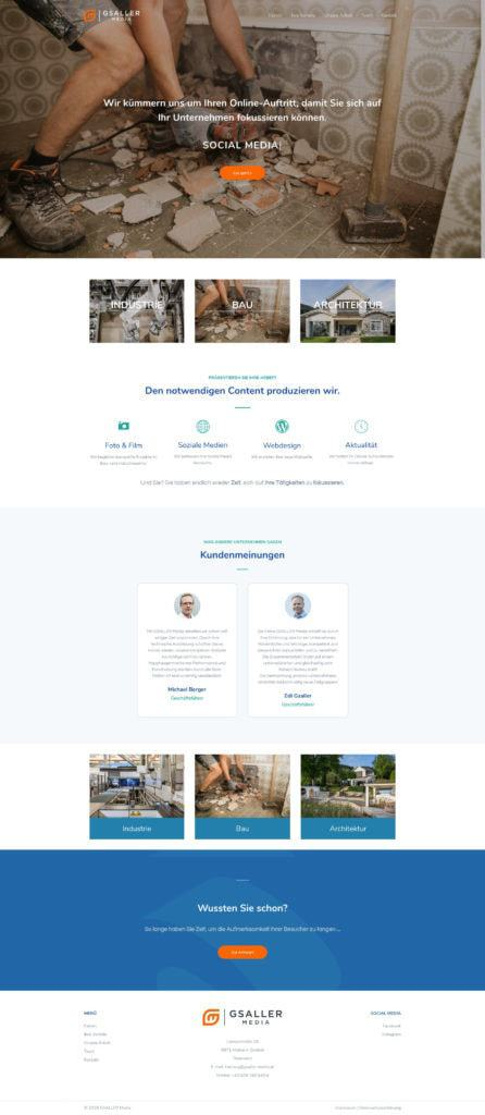 Gsaller Media Webdesign Agentur Seite Home