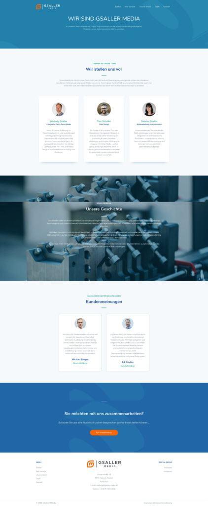Gsaller Media Webdesign Agentur Seite Ueber Uns