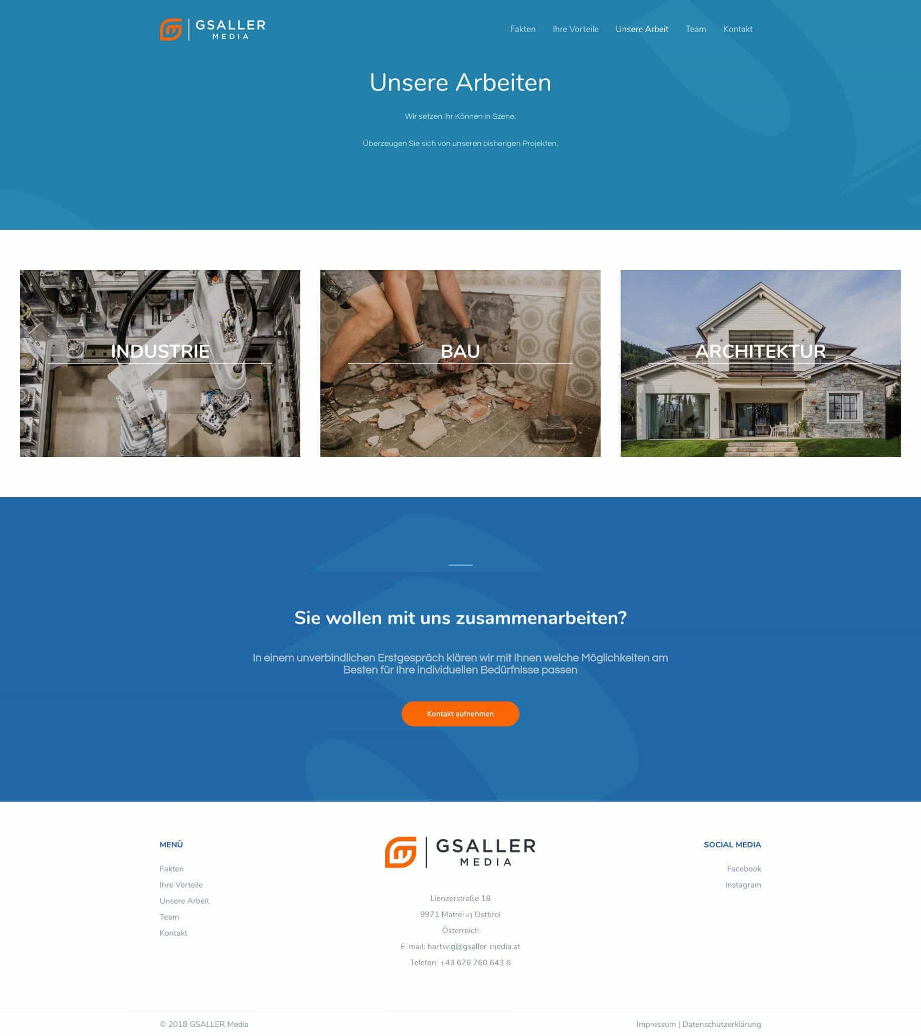 Gsaller Media Webdesign Agentur Seite Portfolio