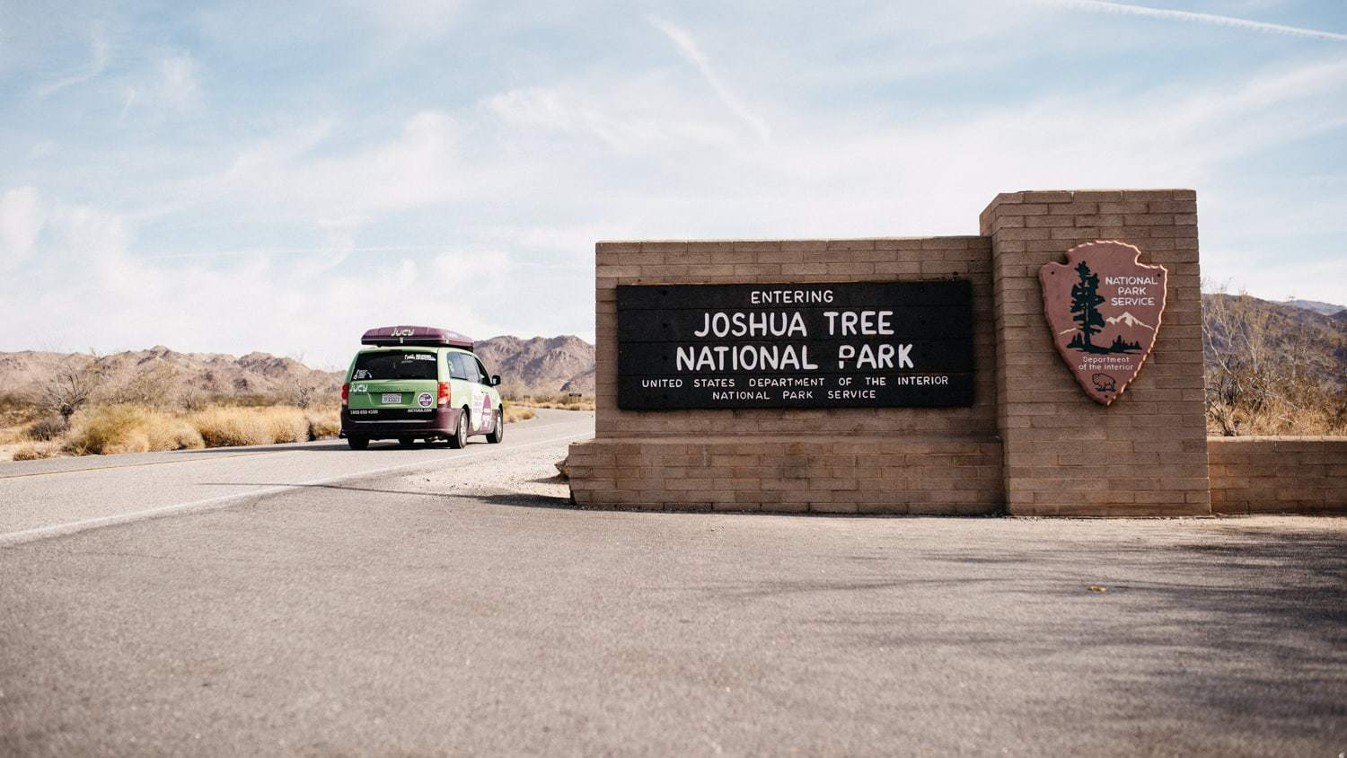 Jucy RV Rental North America - Joshua Tree National Park Eingang