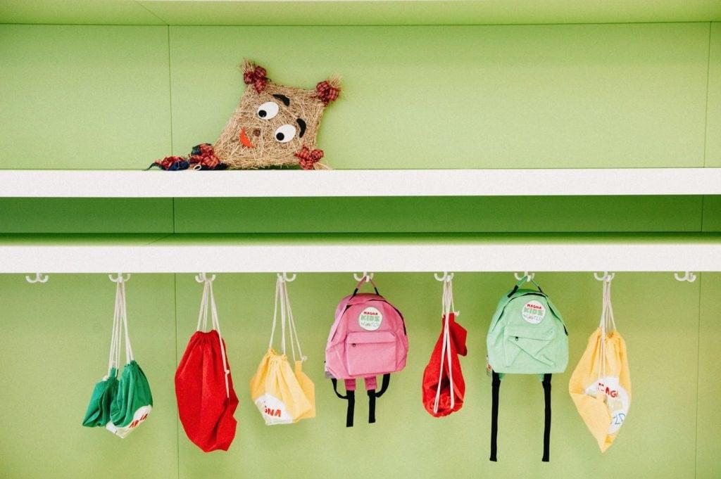 Magna Kids World Webseite Garderobe