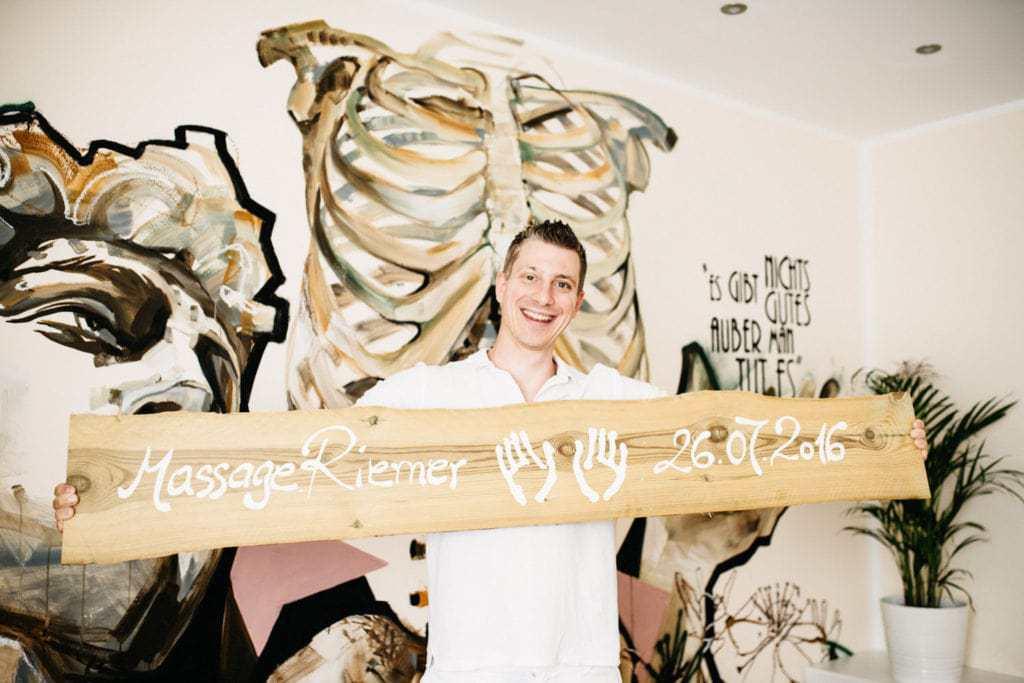 Imagefoto zur Eröffnung Massage Institut Riemer