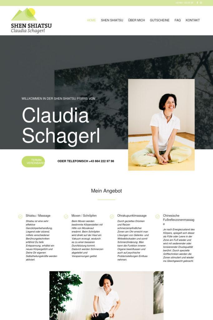 Shenshiatsu Graz Webdesign Homepage Home