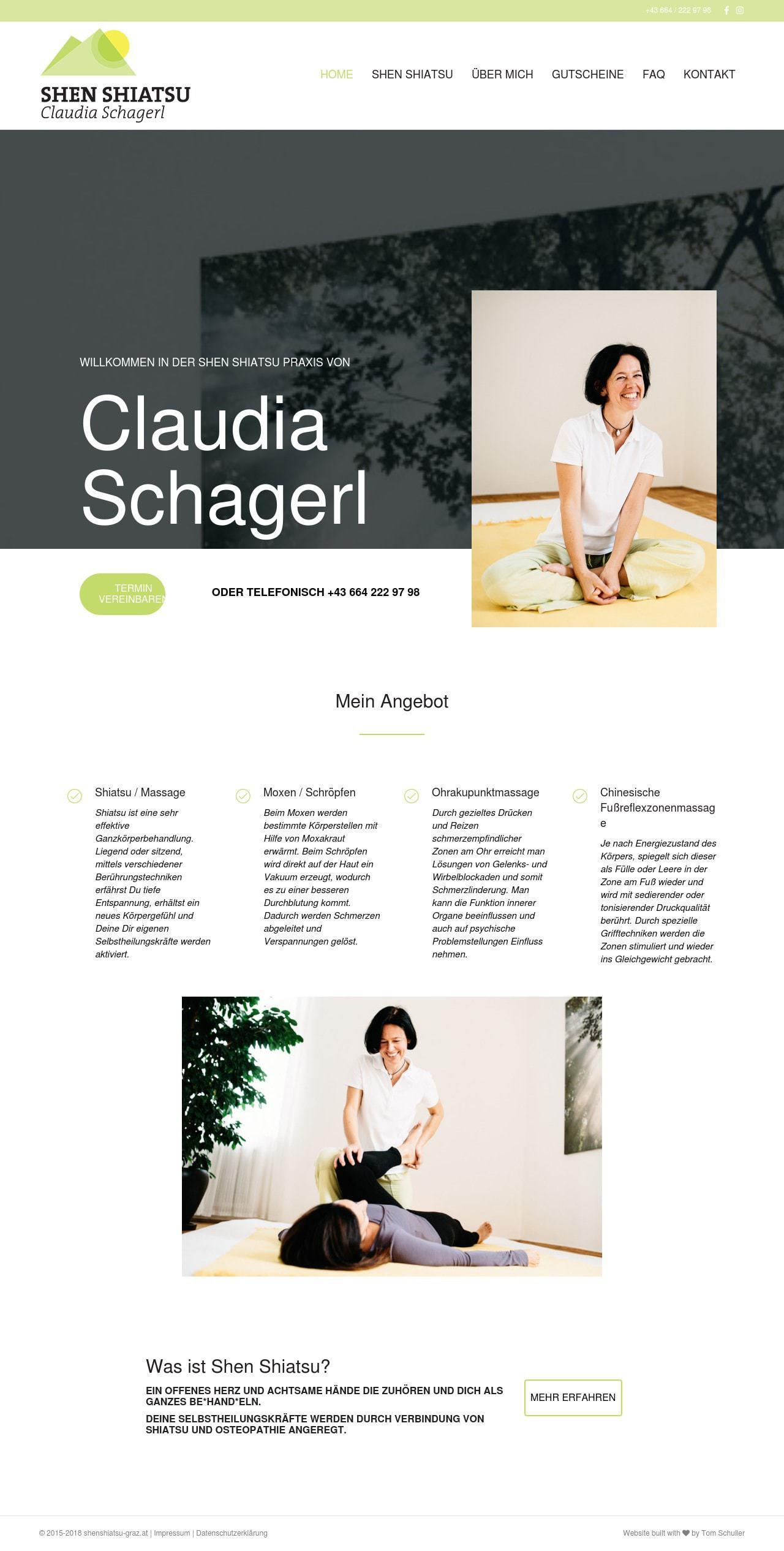 Shenshiatsu Graz Webdesign Homepage