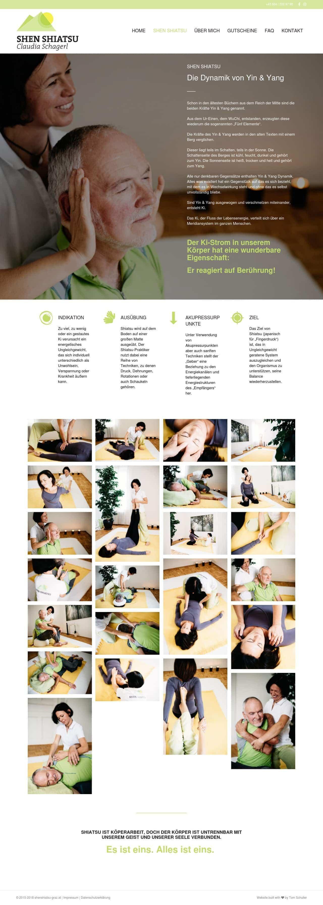 Shenshiatsu Graz Webdesign Homepage Angebot