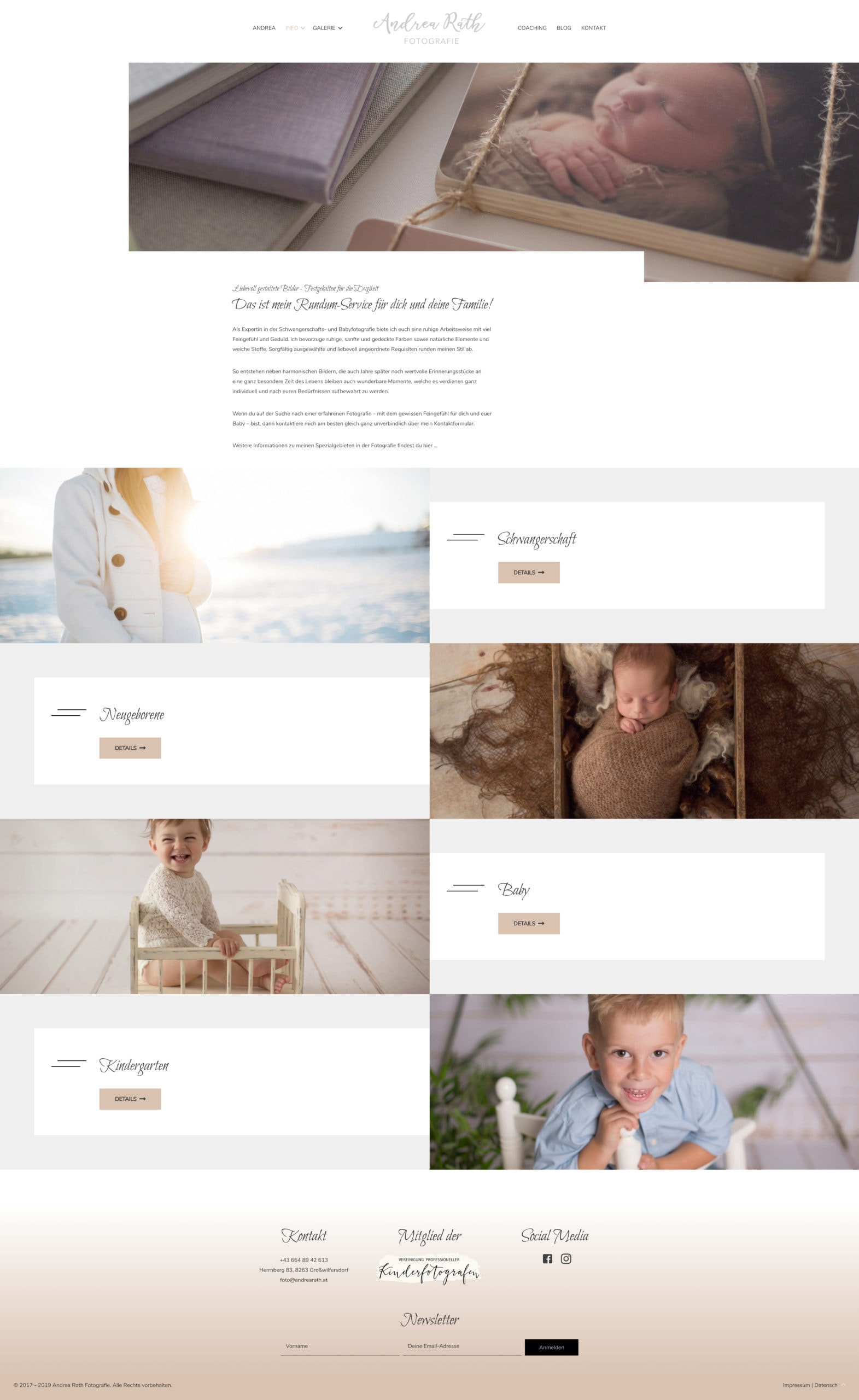 Webdesign Andrea Rath Fotografie
