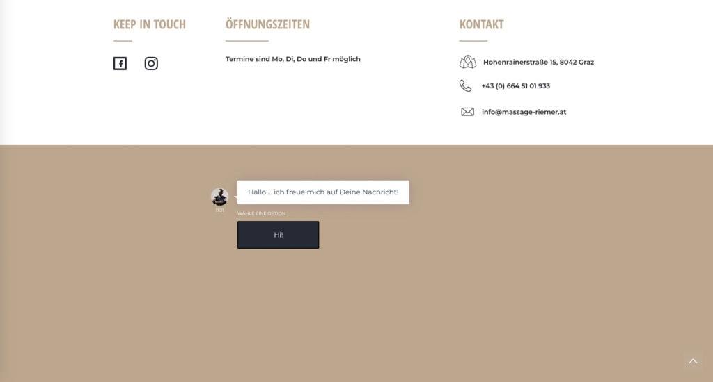 Chatbot Madero Massage Graz