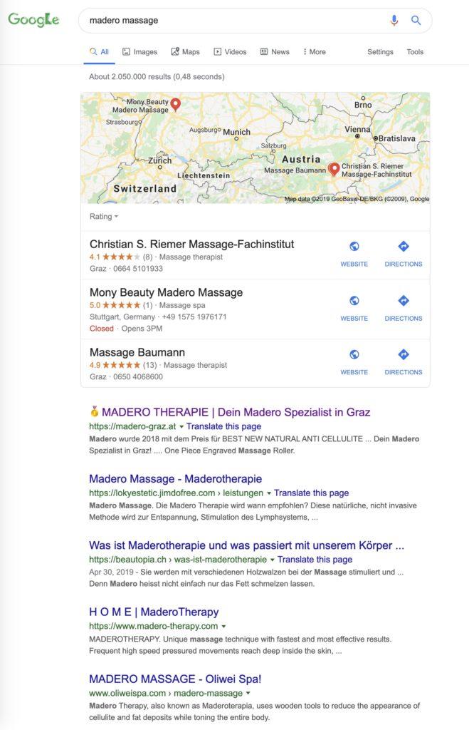 SEO Massage Graz