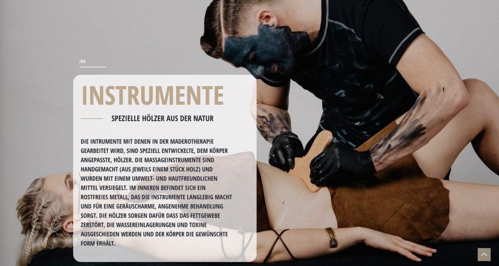 Webdesign Madero Massage Graz