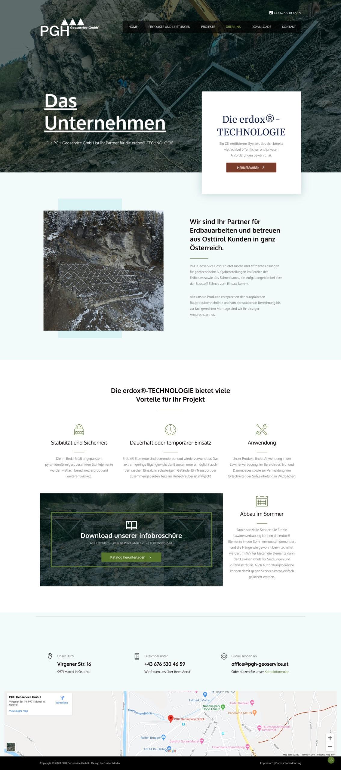 Webdesign PGH Geoservice